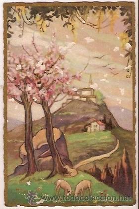 ANTIGUA POSTAL DIBUJO STAMPATA IN ITALIA CASA EDITRICE BALLERINI & FRATINI FIRENZE ESCRITA (Postales - Postales Temáticas - Dibujos originales y Grabados)