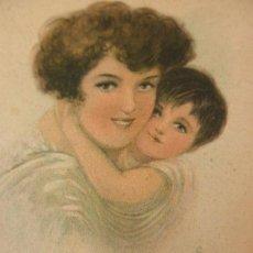 Postales: POSTAL ANTIGUA MAMA 'S DARLING * MARQUIS 1915 * CIRCULADA MAHON. Lote 33767039