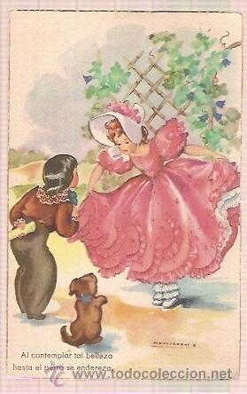 ANTIGUA POSTAL SERIE 116 7 DIBUJOS (Postales - Postales Temáticas - Dibujos originales y Grabados)