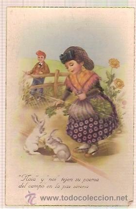 ANTIGUA POSTAL CYZ 533 ESCRITA 1950 (Postales - Postales Temáticas - Dibujos originales y Grabados)