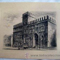 Postales: ANTIGUA TARJETA GRABADO : LA LONJA - VALENCIA. Lote 35665359