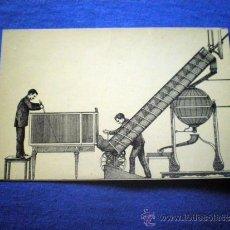 Postcards - POSTAL LOTERIA SERIE B Nº 7 ELEVACION BOLAS APARATO HELICOIDAL GRABADO 1893 NO CIRCULADA - 36388763