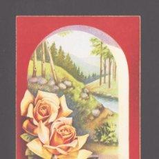 Postales: PAISAJE Y ROSAS (FONDO ROJO) - DISEÑO ORIGINAL DE C. VIVE - POSTAL 529/B EDITADA POR CYZ. Lote 36542238