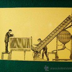 Postcards - ELEVACION DE BOLAS POR EL APARATO HELICOIDAL - GRABADO DE 1893 - SERIE B - Nº 7 -LOTERIA - AÑO 1967? - 36774434