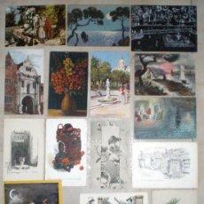 Postales: POSTAL ANTIGUA COLECCIÓN DE GRABADOS Y DIBUJOS ORIGINALES 16 POSTALES. Lote 36959208