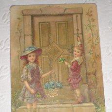 Postales: ANTIGUA POSTAL CON DIBUJO CON PURPURINA. 1913. ART DECO. Lote 37145672