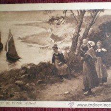 Postales: DÉPART DE PÊCHE-M PASCAL-LA PAYE DES MOISSONNEURS-L. LHERMITTE 2 POSTALES ANTIGUAS NUEVAS. Lote 37251859