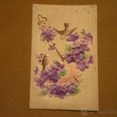 Postales: POSTAL CON DIBUJO FLORAL A COLOR Y EN RELIEVE; ESCRITA POR DETRÁS (1911) 14 X 9 CMS. Lote 39396934
