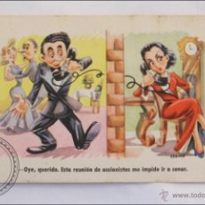 Postales: POSTAL ILUSTRADA POR CELMA - HUMORISTICA - SERIE 71 - REUNION ACCIONISTAS - ESTAMPERIA RAM. Lote 39973181