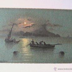 Postales: POSTAL EN ACUARELA ORIGINAL ISLA DE ISCHIA Y PROCIDA NAPOLES - ITALIA - FIRMADO X COPPOLA. Lote 40129348