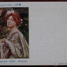 Postales: ANTIGUA POSTAL DE ILUSTRADORES COLLECTION JOB, CALENDRIER 1901 MAXENCE DE LA COLECCION JOB. PERFECTO. Lote 38261497
