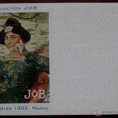 Postales: ANTIGUA POSTAL DE ILUSTRADORES COLLECTION JOB, CALENDRIER 1903 MAXENCE DE LA COLECCION JOB. PERFECTO. Lote 38261498