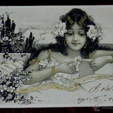 Postales: POSTAL DEL ILUSTRADOR ILLUSTRATEUR - STYLE RAPHAEL KIRCHNER - FEMME DANS UN DECOR ART NOUVEAU. Lote 38278894