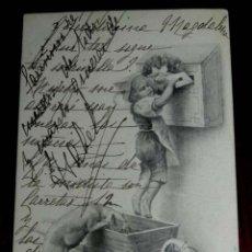Postales: ANTIGUA POSTAL MODERNISTA DE ILUSTRADOR M. M. VIENNE - ART NOUVEAU - SIN DIVIDIR Y CIRCULADA EN 1902. Lote 38278898