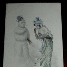 Postales: ANTIGUA POSTAL MODERNISTA DE ILUSTRADOR M. M. VIENNE - ART NOUVEAU - SIN DIVIDIR Y CIRCULADA EN 1902. Lote 38278899