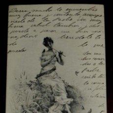 Postales: ANTIGUA POSTAL DEL ILUSTRADOR M. M. VIENNE, CIRCULADA EN 1902, SIN DIVIDIR. Lote 38278947