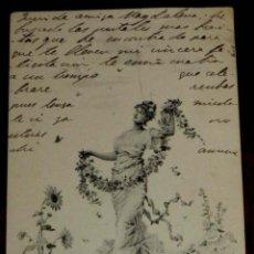Postales: ANTIGUA POSTAL DEL ILUSTRADOR M. M. VIENNE, CIRCULADA EN 1902, SIN DIVIDIR. Lote 38278948