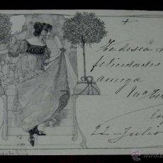 Postales: ANTIGUA POSTAL MODERNISTA, ESTILO ART NOUVEAU, VIENNOISE, ILLUSTRATEUR, M. M. VIENNE, CIRCULADA EN 1. Lote 38278963