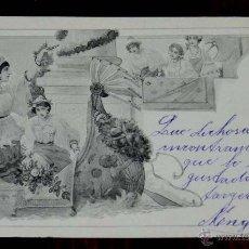 Postales: ANTIGUA POSTAL MODERNISTA, ESTILO ART NOUVEAU, VIENNOISE, ILLUSTRATEUR, M. M. VIENNE, CIRCULADA EN 1. Lote 38278964