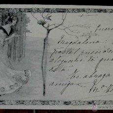 Postales: ANTIGUA POSTAL MODERNISTA, ESTILO ART NOUVEAU, VIENNOISE, ILLUSTRATEUR, M. M. VIENNE, CIRCULADA EN 1. Lote 38278970