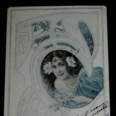 Postales: ANTIGUA POSTAL DE KIRCHNER RAPHAEL - M.M. VIENNE - CIRCULADA EN 1902, SIN DIVIDIR, NO FIRMADA, UNSIG. Lote 38278982