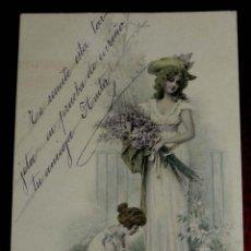 Postales: ANTIGUA POSTAL DE ILUSTRADOR M.M. VIENNE. CIRCULADA EN 1902, SIN DIVIDIR. Lote 38279455