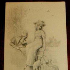 Postales: ANTIGUA POSTAL DE ILUSTRADOR M. M. VIENNE, MODERNISTA, ART NOUVEAU, CIRCULADA EN 1902 Y SIN DIVIDIR. Lote 38279467