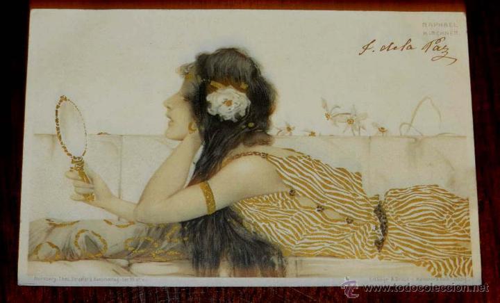 ANTIGUA POSTAL DE ILUSTRADOR KIRCHNER RAPHAEL - ART NOUVEAU - FEMME - SÉRIE N° 99 V STROEFERS, CIRC (Postales - Postales Temáticas - Dibujos originales y Grabados)