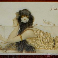 Postales: ANTIGUA POSTAL DE ILUSTRADOR KIRCHNER RAPHAEL - ART NOUVEAU - FEMME - SÉRIE N° 99 V STROEFERS, CIRC. Lote 38279468
