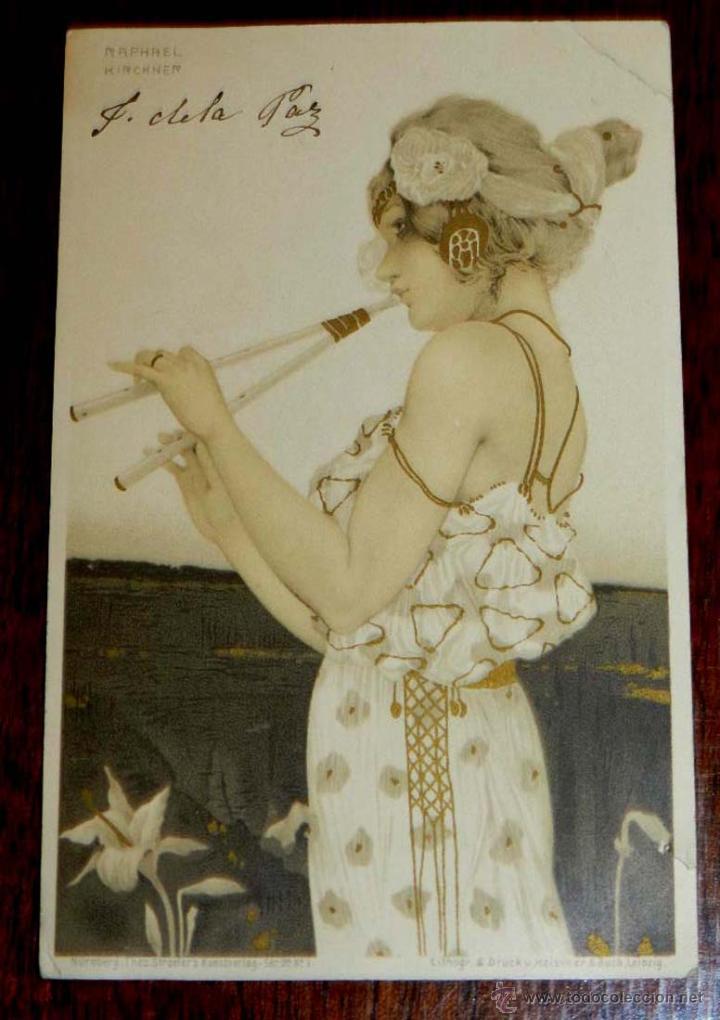 ANTIGUA POSTAL DE ILUSTRADOR KIRCHNER RAPHAEL - ART NOUVEAU - FEMME - SÉRIE N° 99 I STROEFERS, CIRC (Postales - Postales Temáticas - Dibujos originales y Grabados)