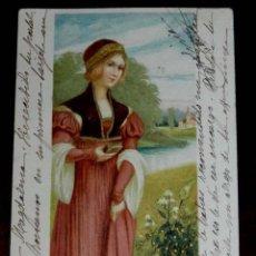 Postales: ANTIGUA POSTAL DE ILUSTRADOR SIN FIRMA, CIRCULADA EN 1902, SIN DIVIDIR.. Lote 38279896