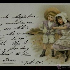 Postcards - ANTIGUA POSTAL DE ILUSTRADOR , NIÑOS, Meissner & Buch, Leipzig, Serie 1048 MSM FIRMADA, MODERNIS - 38279913