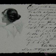 Postales: ANTIGUA POSTAL DE ILUSTRADOR ART NOUVEAU, MODERNISTA, CIRCULADA EN 1902 SIN DIVIDIR. Lote 38280097