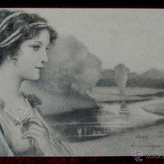 Postales: ANTIGUA POSTAL DE ILUSTRADOR M. M. VIENNE, MODERNISTA, ART NOUVEAU, CIRCULADA EN 1902 SIN DIVIDIR,. Lote 38280112
