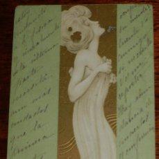Postales: ANTIGUA POSTAL ILLUSTRATEUR - KIRCHNER RAPHAEL - ART NOUVEAU - FEMME - DEMI VIERGE, CIRCULADA. Lote 38283808