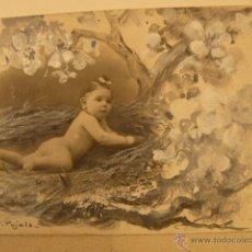 Postales: POSTAL ORIGINAL PINTADA A MANO DE B. PUJALS. Lote 42414090