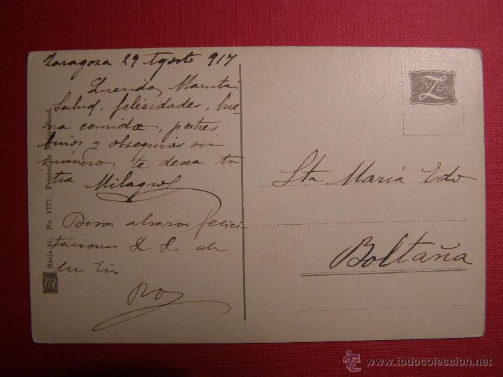 Postales: Preciosa Antigua Postal a Color - NZG - Serie 41 nº 1777 - Escrita y fechada 29 Agosto 1917 - Foto 2 - 43146849