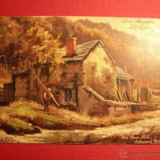 Postales: MUY ANTIGUA POSTAL A COLOR - RAPHAEL TUCK & SONS - 7140 - BUXTON - OLD SAW MILLS - 1904 -. Lote 43147055