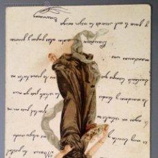 Postales: POSTAL ILUSTRADA MUJER MODERNISTA, CIRCULADA EN 1903. MODERNISMO, ART NOUVEAU.. Lote 39398059
