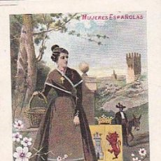 Postales: 1900 - POSTAL MUJERES ESPAÑOLAS - COLOREADA - CACERES - TIPOGRAFIA PALACIOS. Lote 44112450