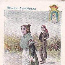 Postales: 1900 - POSTAL MUJERES ESPAÑOLAS - COLOREADA - CIUDAD REAL - TIPOGRAFIA PALACIOS. Lote 44112478
