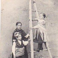 Postales: RRR POSTAL DE ZARAGOZA 1900 - Nº 54 - SUBIENDO A LA TAPIA - THOMAS BARCELONA. Lote 44112549