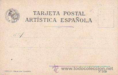 Postales: 1900 - POSTAL MUJERES ESPAÑOLAS - COLOREADA - CIUDAD REAL - TIPOGRAFIA PALACIOS - Foto 2 - 44112478