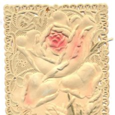 Postales: POSTAL CON RELIEVE FLORES. Lote 44626045