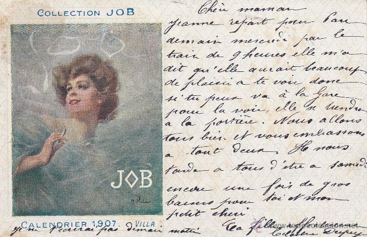 COLLECTION JOB CALENDRIER 1907 VILLA (Postales - Postales Temáticas - Dibujos originales y Grabados)