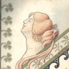 Postales: ANTONIO ALBERTO. BUSTO DE MUJER MODERNISTA. POSTAL PINTADA A MANO, C. 1903. BUENA CONSERVAICÓN. Lote 56702149