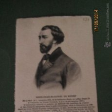 Postales: POSTAL PERSONAJES ILUSTRES EUROPEOS LOUIS-CHARLES-ALFRED DE MUSSET CARTULINA TEXTURIZADA - AÑO 1930S. Lote 45303228