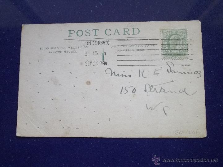 Postales: RARISIMA POSTAL GATO ROJO PINTADA A MANO TINTA Y ACUARELA ORIGINAL 1909 - Foto 2 - 45574353