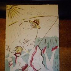 Postcards - RARISIMA POSTAL PICARA PINTADA ORIGINAL A MANO ACUARELA 1910 CIRCULADA - 45579673