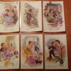 Postales: LOTE DE 6 POSTALES AÑOS 30 SIN USO ALGUNO -MOTIVO NIÑOS - UNA PRECIOSIDAD. Lote 45506375